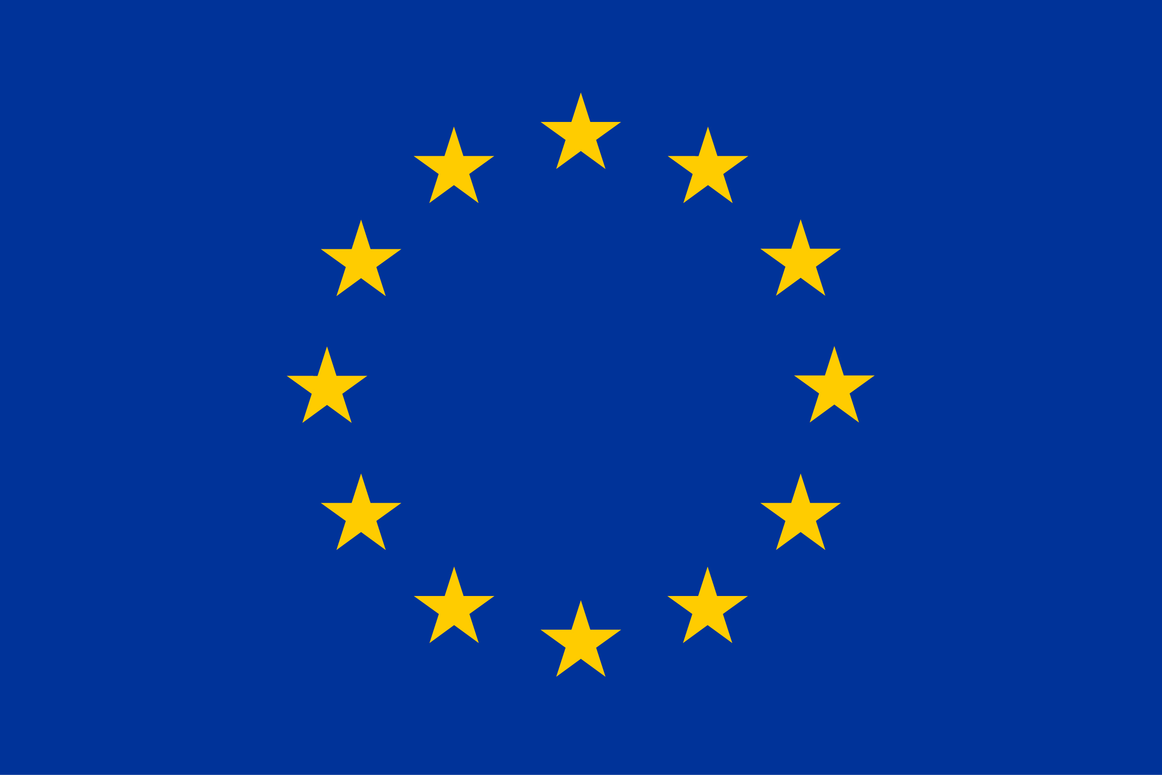 EU logo (the European flag, blue background with 12 golden stars)